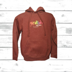 Fat Willy's Adult Hoodie Wine