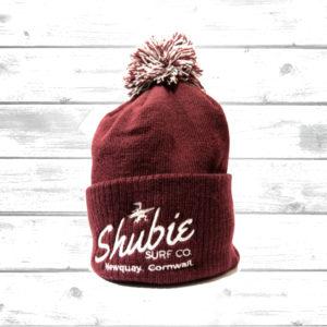 Shubie Bobble Hat Burgundy