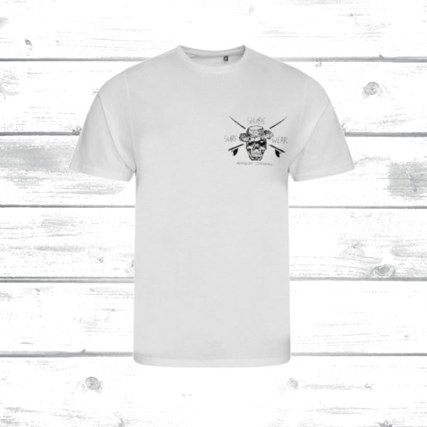 Shubie Mens White Skull T-Shirt